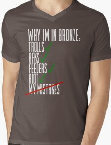 Why Im in Bronze Colors Mens V-Neck T-Shirt