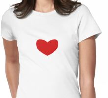 love heart Womens Fitted T-Shirt