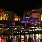 Darling Harbour Panorama - Vivid 2013 by Kezzarama