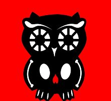 Skull Owl/ red by D-Vega