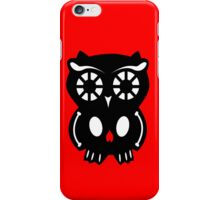 Skull Owl/ red iPhone Case/Skin