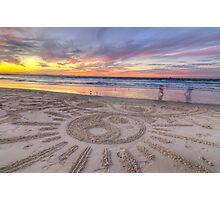 Sand Sunrays Photographic Print