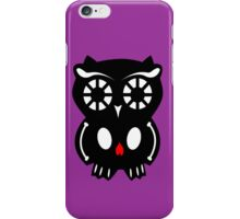 Skull Owl/ violet iPhone Case/Skin