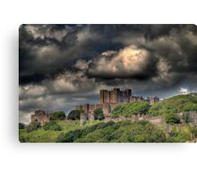 Storm clouds over Dover Canvas Print