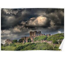 Storm clouds over Dover Poster