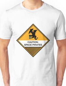 Space Pirates Warning Placard Unisex T-Shirt