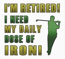 Retired Golf Humor by thepixelgarden