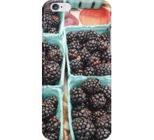 Farmer's Market Blackberries iPhone Case/Skin