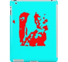 Blue red iPad Case/Skin