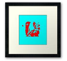 Blue red Framed Print