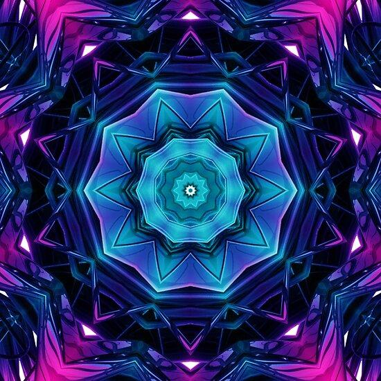 Mirror of Blue and Purple Kaleidoscope 04 by fantasytripp