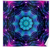 Mirror of Blue and Purple Kaleidoscope 04 Poster