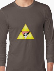 Zelda Triforce ( courage, wisdom, power, and pokemon ) Long Sleeve T-Shirt