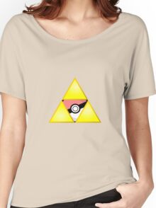 Zelda Triforce ( courage, wisdom, power, and pokemon ) Women's Relaxed Fit T-Shirt