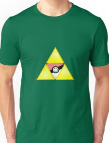 Zelda Triforce ( courage, wisdom, power, and pokemon ) Unisex T-Shirt
