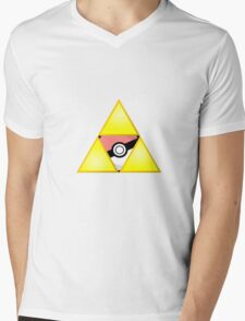 Zelda Triforce ( courage, wisdom, power, and pokemon ) Mens V-Neck T-Shirt