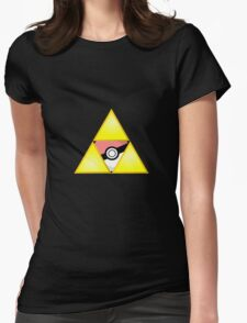 Zelda Triforce ( courage, wisdom, power, and pokemon ) Womens Fitted T-Shirt