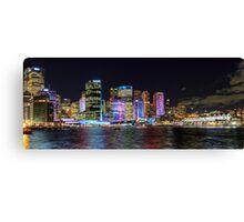 Vivid Circular Quay, Sydney Canvas Print