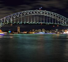 Sydney Harbour Bridge Panorama by Michael Clarke