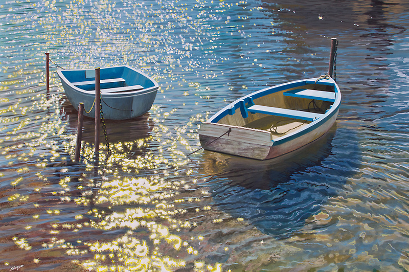 Sunlight on the water by Freda Surgenor