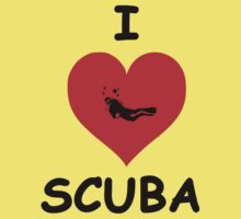 I LOVE SCUBA Kids Tee