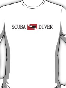 Scuba Diving and Flag with Diver T-Shirt