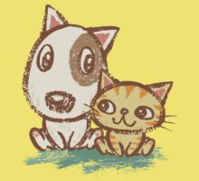 Dog and cat with good relations Kids Clothes