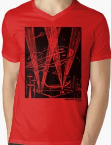 Night Traffic, Whitehall Hoverport Mens V-Neck T-Shirt