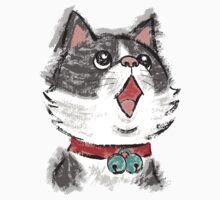 Cat wearing bells by Toru Sanogawa