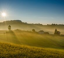 Sunny hills by Peter Zajfrid