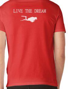 Live the Dream and Scuba Dive Mens V-Neck T-Shirt