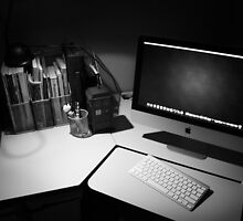 My desk : The modern day photographers dark room. by Nicholas Griffin