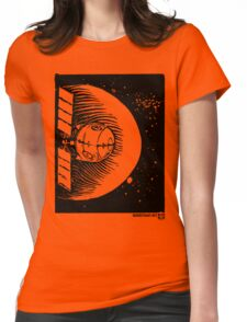 Orbital Satellite Delta-6 (Black Version) Womens Fitted T-Shirt