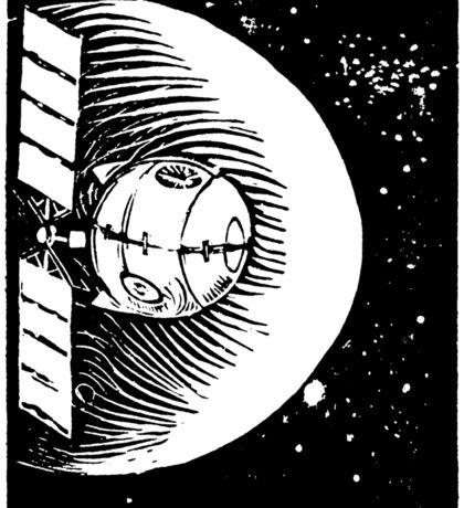 Orbital Satellite Delta-6 (Black Version) Sticker