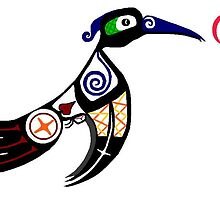 Almost Traditional First Nations Hummingbird by Karlee Wilson