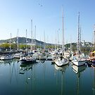 Reflections of Yachts, Cherbourg Harbour by GregoryE