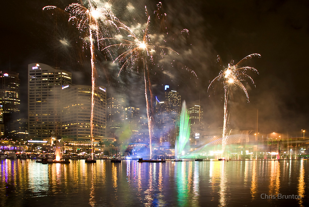 Fireworks at Darling Harbour for VIVID by Chris Brunton