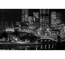 Princess Bridge & the Yarra River at night Melbourne. Photographic Print