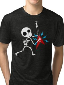 Guitar Skeleton Tri-blend T-Shirt