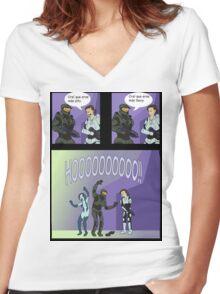 HOOOOOO  Women's Fitted V-Neck T-Shirt