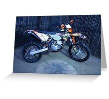 KTM Sixdays. Rider Joshua Braham Greeting Card