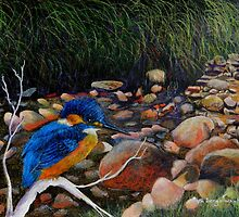 Kingfisher Creek by sandysartstudio
