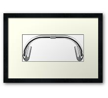 Classic Track Handlebars - No Text Framed Print