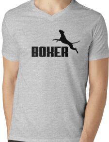 Boxer (black) Mens V-Neck T-Shirt