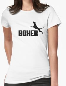 Boxer (black) Womens Fitted T-Shirt