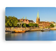 Bremen in evening light, Germany Canvas Print