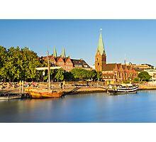 Bremen in evening light, Germany Photographic Print