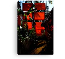 Monks' Laundry Chiang Mai Canvas Print