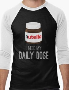 I need my daily dose >Nutella< Men's Baseball ¾ T-Shirt
