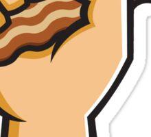 Hand holding Bacon Sticker